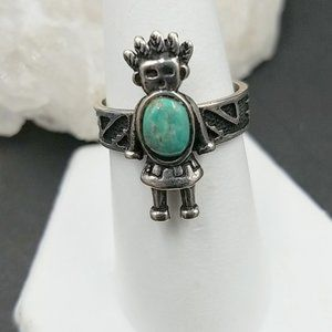 Carolyn Pollock Sterling Turquoise Ring